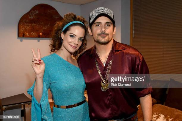 Kimberly Williams Paisley and Brad Paisley attend the Nashville Disco Party Benefiting Alzheimer's Association on June 4 2017 in Nashville Tennessee