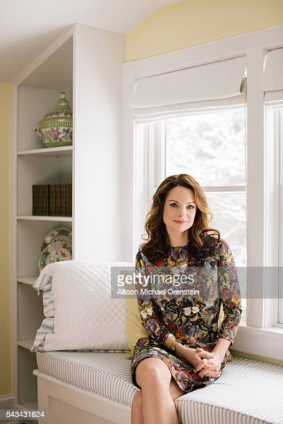 Kimberly Williams Paisley and family in Rye NYActress Kimberly WilliamsPaisley is photographed for People Magazine on February 8 2016 in Rye New York...