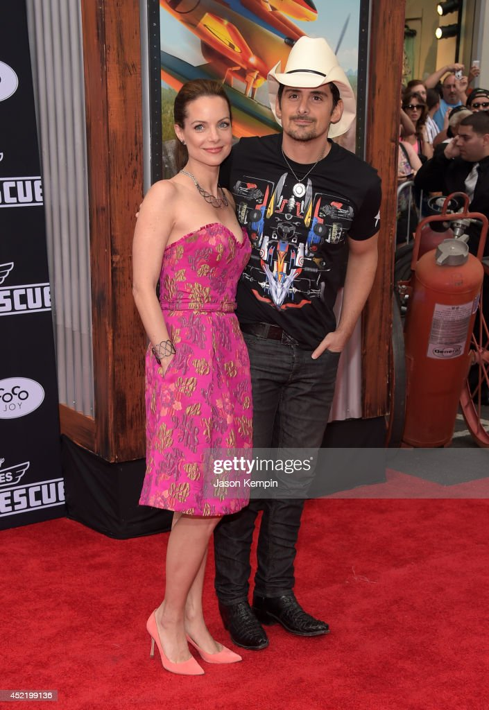 Kimberly Williams-Paisley (L) and singer Brad Paisley attend the premiere of Disney's 'Planes: Fire & Rescue' at the El Capitan Theatre on July 15, 2014 in Hollywood, California.