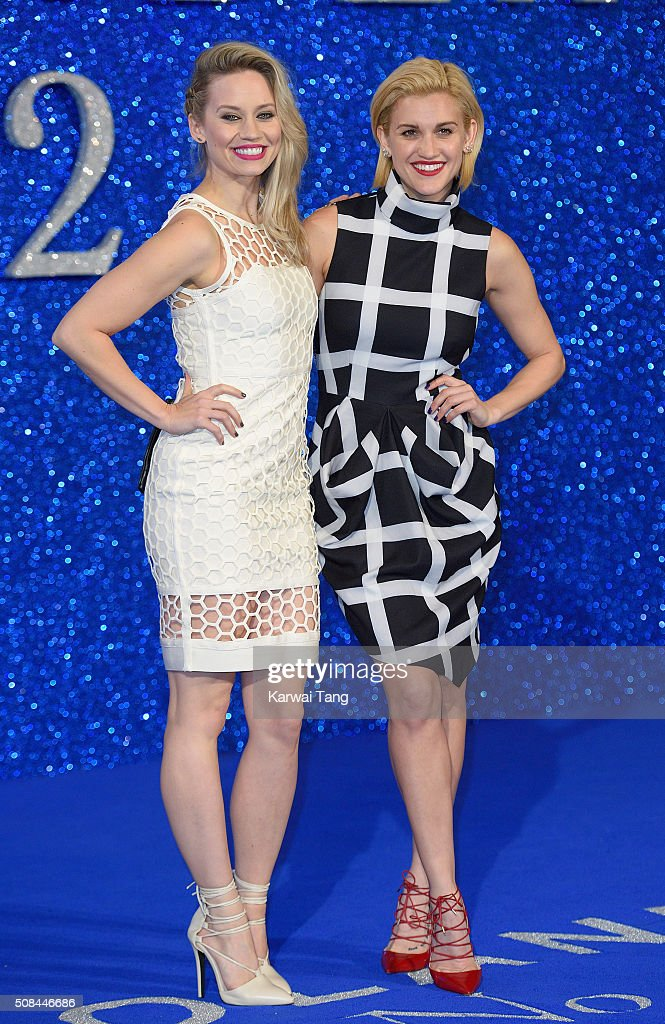 Kimberly Wyatt and Ashley Roberts attend a London Fan Screening of the Paramount Pictures film 'Zoolander No 2' at Empire Leicester Square on...