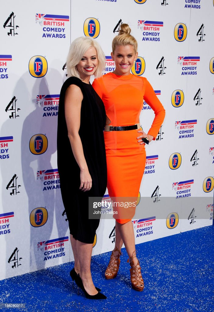 Kimberly Wyatt and Ashley Roberts attend the British Comedy Awards at Fountain Studios on December 12, 2012 in London, England.