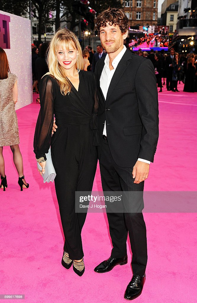 kimberly-wyatt-and-max-rogers-arrive-for-the-world-premiere-of-baby-picture-id599517698