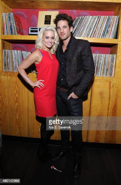 Kimberly Wyatt and Max Rogers attend 2nd Supermodel Saturday at No8 on March 22 2014 in New York City