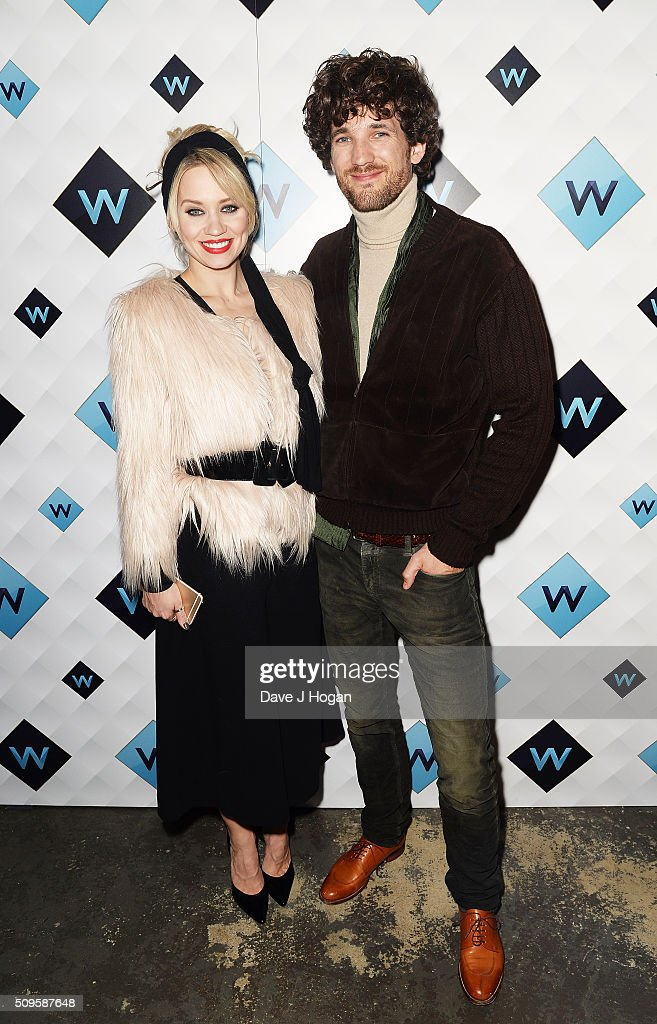 <a gi-track='captionPersonalityLinkClicked' href=/galleries/search?phrase=Kimberly+Wyatt&family=editorial&specificpeople=678958 ng-click='$event.stopPropagation()'>Kimberly Wyatt</a> (L) and Max Rogers attend a celebration of the new TV channel 'W,' launching on Monday 15th February, at Union Street Cafe on February 11, 2016 in London, England.