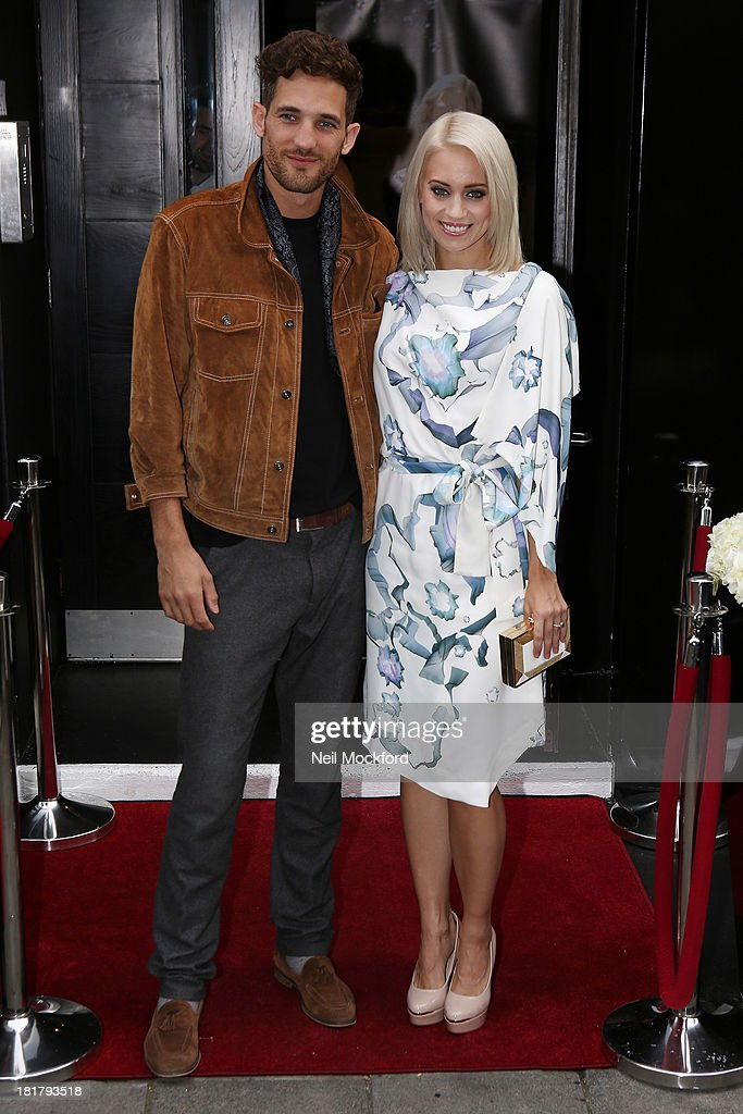 <a gi-track='captionPersonalityLinkClicked' href=/galleries/search?phrase=Kimberly+Wyatt&family=editorial&specificpeople=678958 ng-click='$event.stopPropagation()'>Kimberly Wyatt</a> and Max Rogers attend a photocall to launch the KEY Fashion brand at Vanilla on September 25, 2013 in London, England.