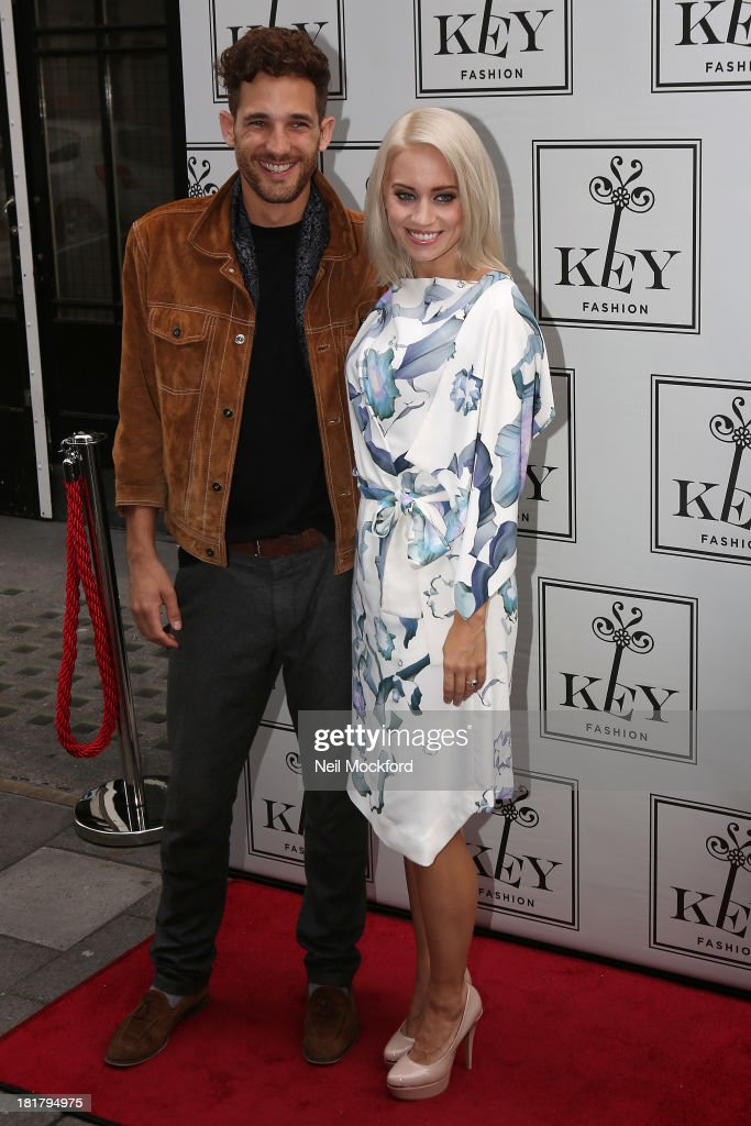 Kimberly Wyatt and Max Rogers attend a photocall to launch the KEY Fashion brand at Vanilla on September 25, 2013 in London, England.