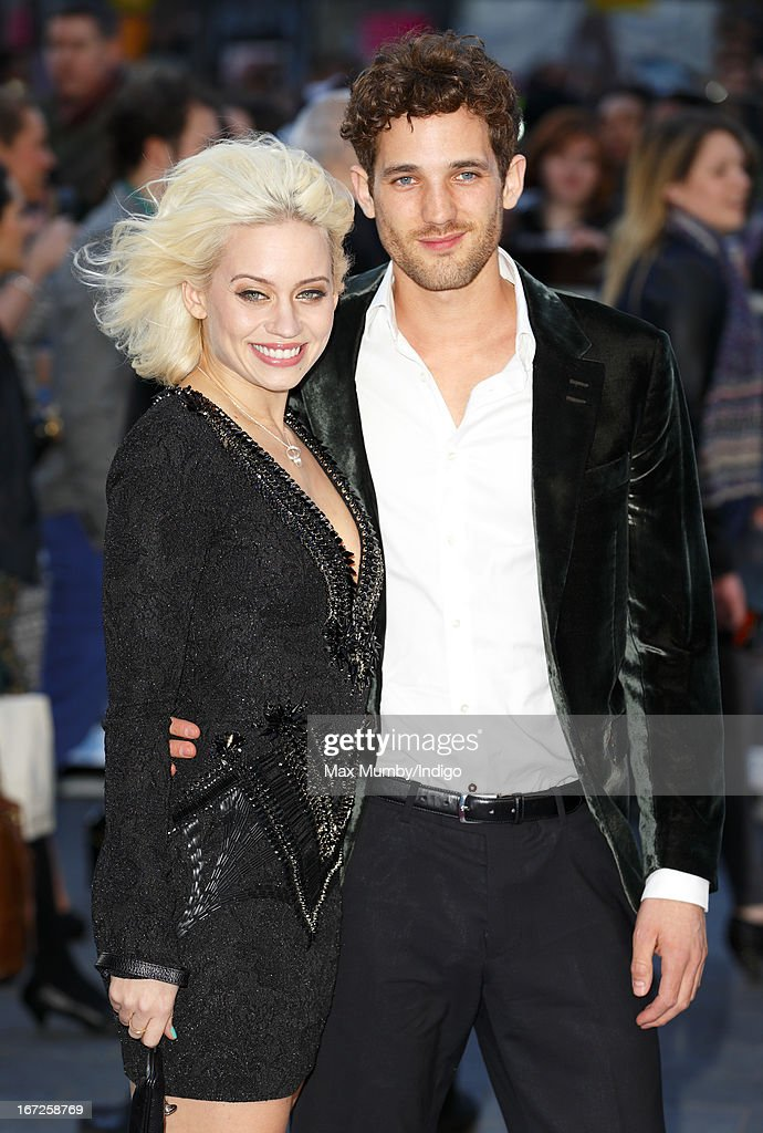 Kimberly Wyatt and Max Rogers attend a special screening of 'Iron Man 3' at Odeon Leicester Square on April 18, 2013 in London, England.