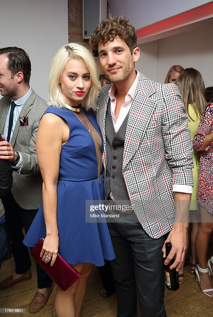 Kimberly Wyatt and Max Rogers attend the launch of Urban Expression by Swatch at Blackall Studios on August 14, 2013 in London, England.