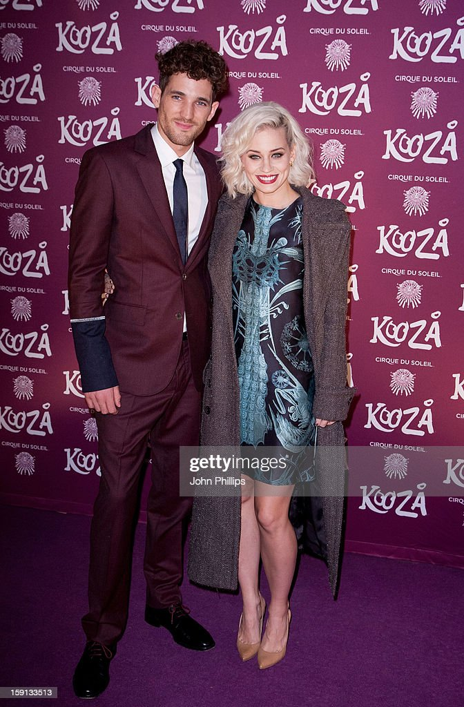 Kimberly Wyatt and Max Rogers attend the opening night of Cirque Du Soleil's Kooza at Royal Albert Hall on January 8, 2013 in London, England.