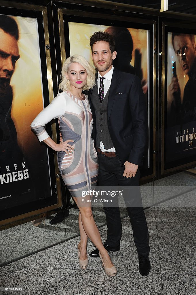 Kimberly Wyatt and Max Rogers attend the UK Premiere of 'Star Trek Into Darkness' at The Empire Cinema on May 2, 2013 in London, England.