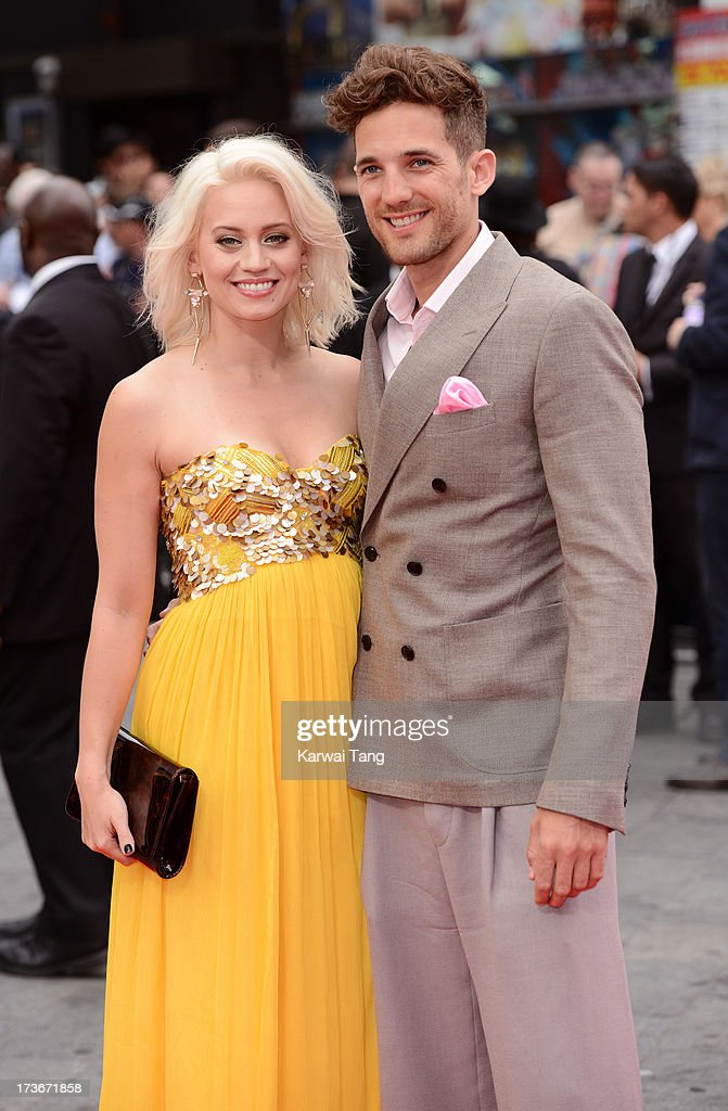 Kimberly Wyatt and Max Rogers attend the UK premiere of 'The Wolverine' at Empire Leicester Square on July 16, 2013 in London, England.