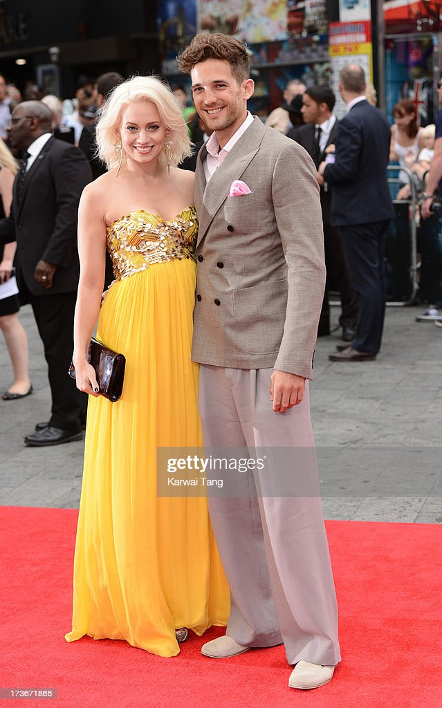 <a gi-track='captionPersonalityLinkClicked' href=/galleries/search?phrase=Kimberly+Wyatt&family=editorial&specificpeople=678958 ng-click='$event.stopPropagation()'>Kimberly Wyatt</a> and Max Rogers attend the UK premiere of 'The Wolverine' at Empire Leicester Square on July 16, 2013 in London, England.