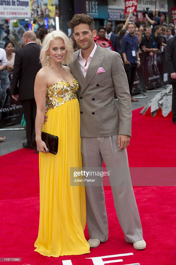 Kimberly Wyatt, and Max Rogers attend the UK Premiere of 'The Wolverine' at Empire Leicester Square on July 16, 2013 in London, England.