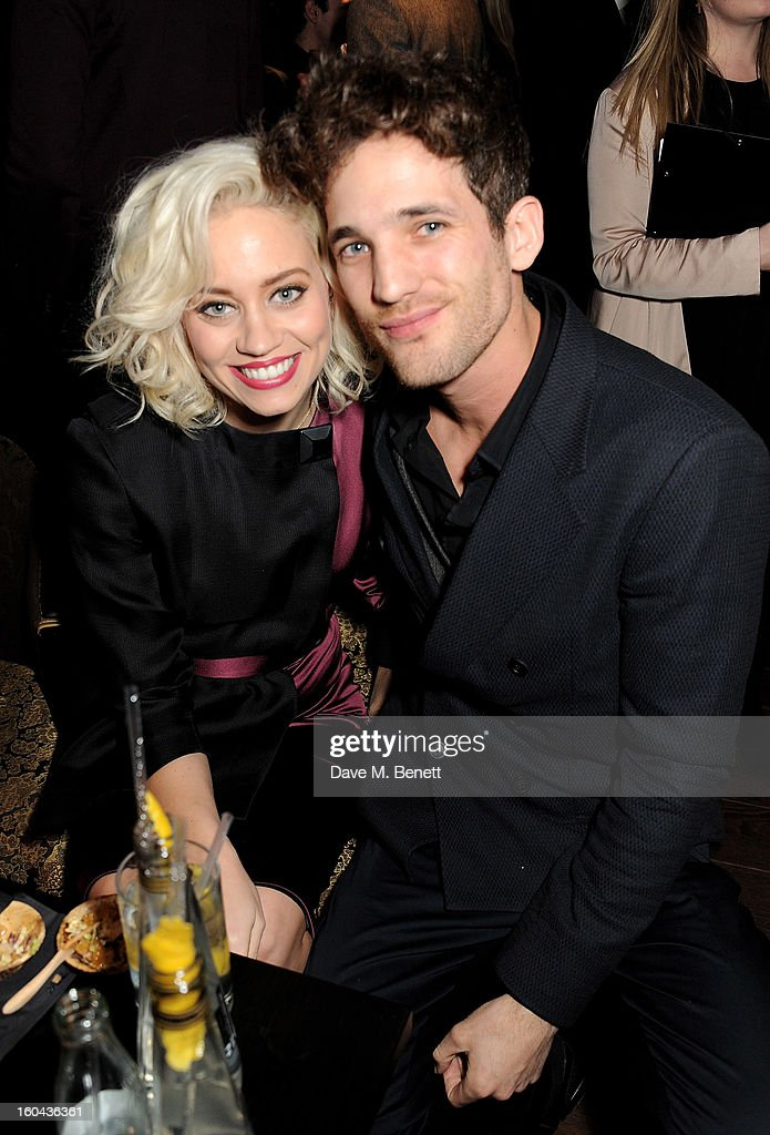 <a gi-track='captionPersonalityLinkClicked' href=/galleries/search?phrase=Kimberly+Wyatt&family=editorial&specificpeople=678958 ng-click='$event.stopPropagation()'>Kimberly Wyatt</a> (L) and Max Rogers attend the ZEO 'Just January' party at Buddha-Bar London on January 31, 2013 in London, England.