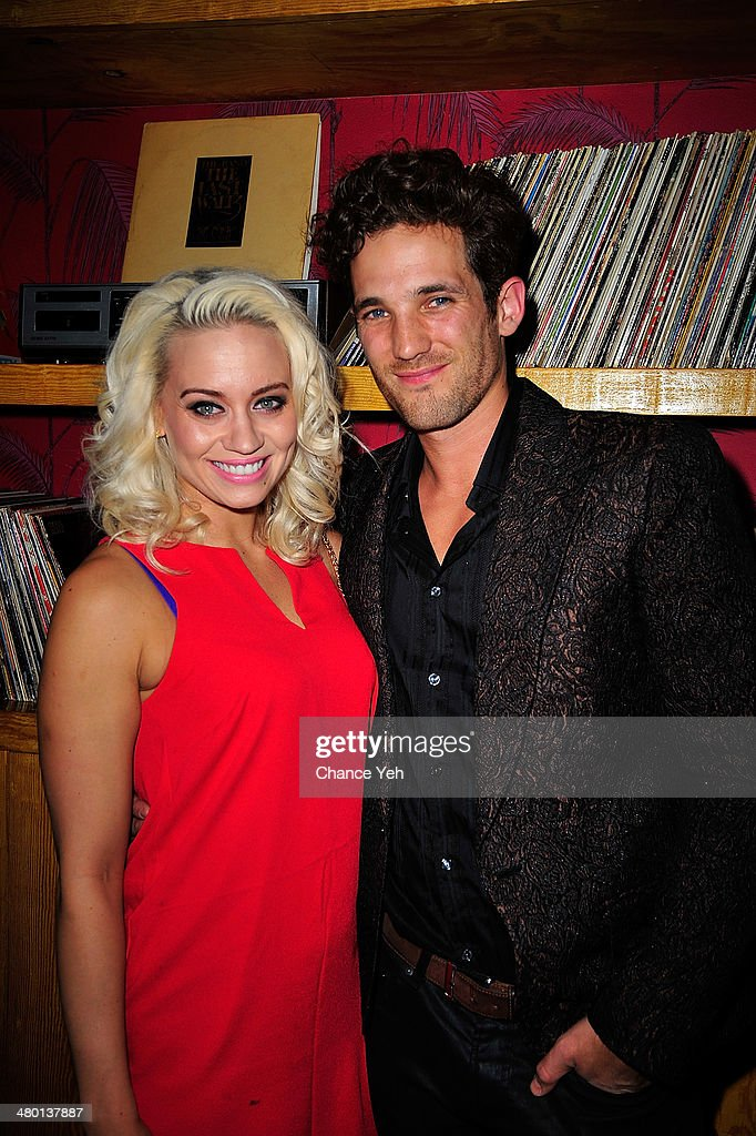 <a gi-track='captionPersonalityLinkClicked' href=/galleries/search?phrase=Kimberly+Wyatt&family=editorial&specificpeople=678958 ng-click='$event.stopPropagation()'>Kimberly Wyatt</a> and Max Rogers attends 2nd Supermodel Saturday at No.8 on March 22, 2014 in New York City.