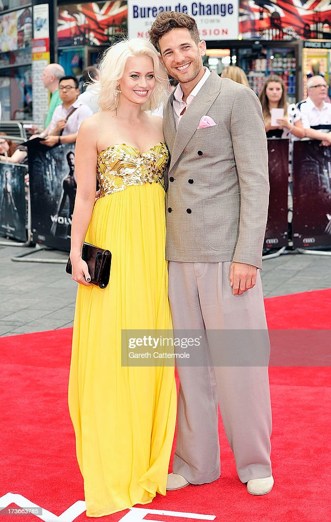 Kimberly Wyatt and Max Rogers attends the UK Premiere of 'The Wolverine' at Empire Leicester Square on July 16, 2013 in London, England.