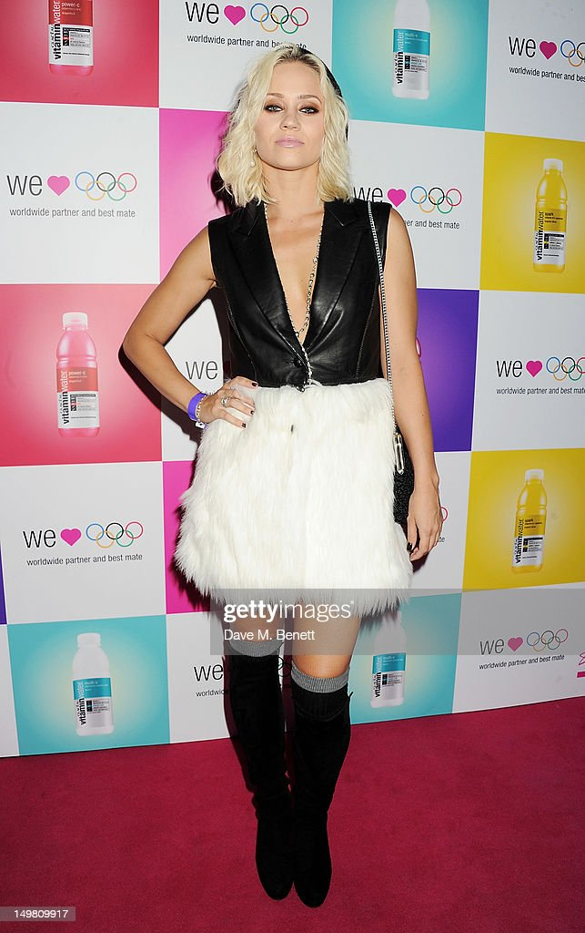 Kimberly Wyatt arrives as Glaceau vitaminwater presents 'Jessie J Live In London' at The Roundhouse on August 4, 2012 in London, England.