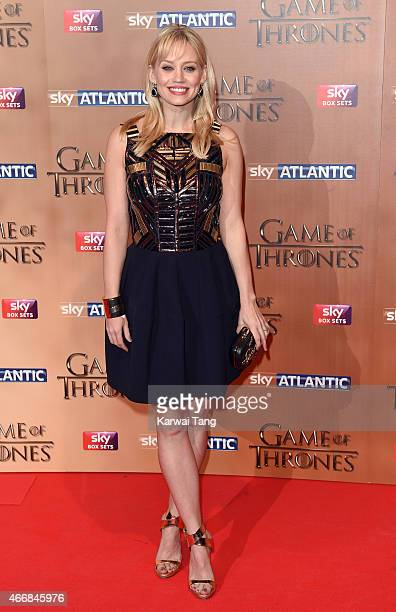 Kimberly Wyatt arrives for the world premiere of Game of Thrones Season 5 at Tower of London on March 18 2015 in London England
