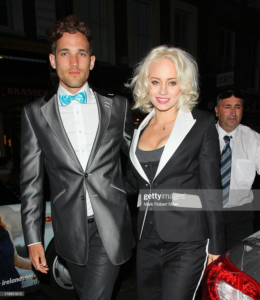 Kimberly Wyatt attending the Infiniti Gate Experience party on July 11, 2013 in London, England.