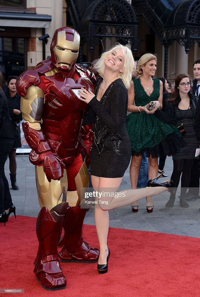 Kimberly Wyatt attends a special screening of 'Iron Man 3' at Odeon Leicester Square on April 18, 2013 in London, England.