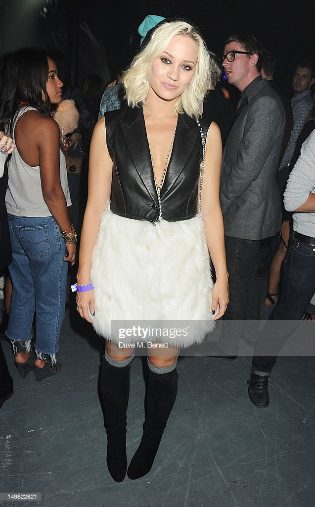 Kimberly Wyatt attends a VIP Reception as Glaceau vitaminwater presents 'Jessie J Live In London' at The Roundhouse on August 4, 2012 in London, England.