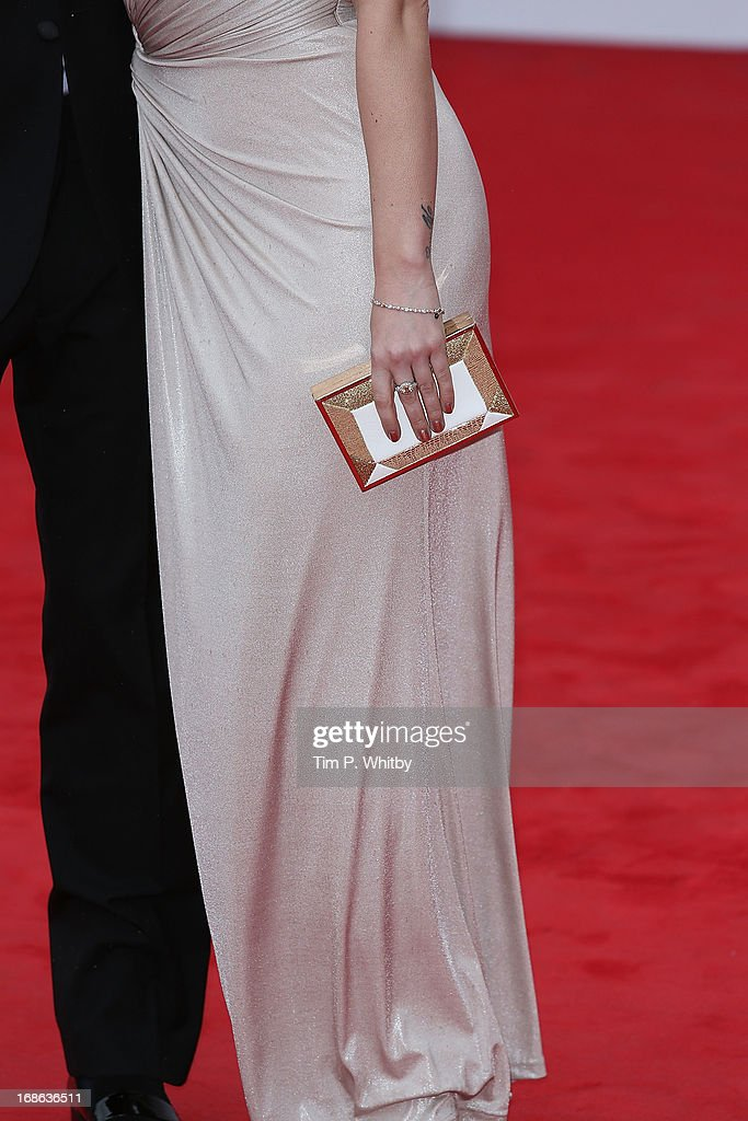 Kimberly Wyatt (bag detail) attends the Arqiva British Academy Television Awards 2013 at the Royal Festival Hall on May 12, 2013 in London, England.