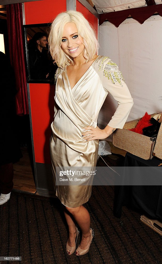 Kimberly Wyatt attends the Galaxy Pop Up Drive-In Cinema at the Doon Street Car Park on February 26, 2013 in London, England.