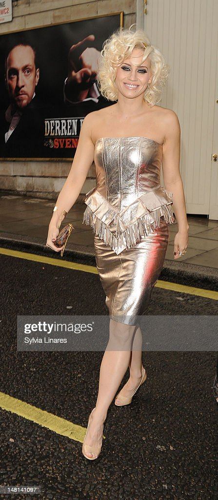 Kimberly Wyatt attends The Hurly Burly Show Gala night held at The Duchess Theatre on July 10, 2012 in London, England.