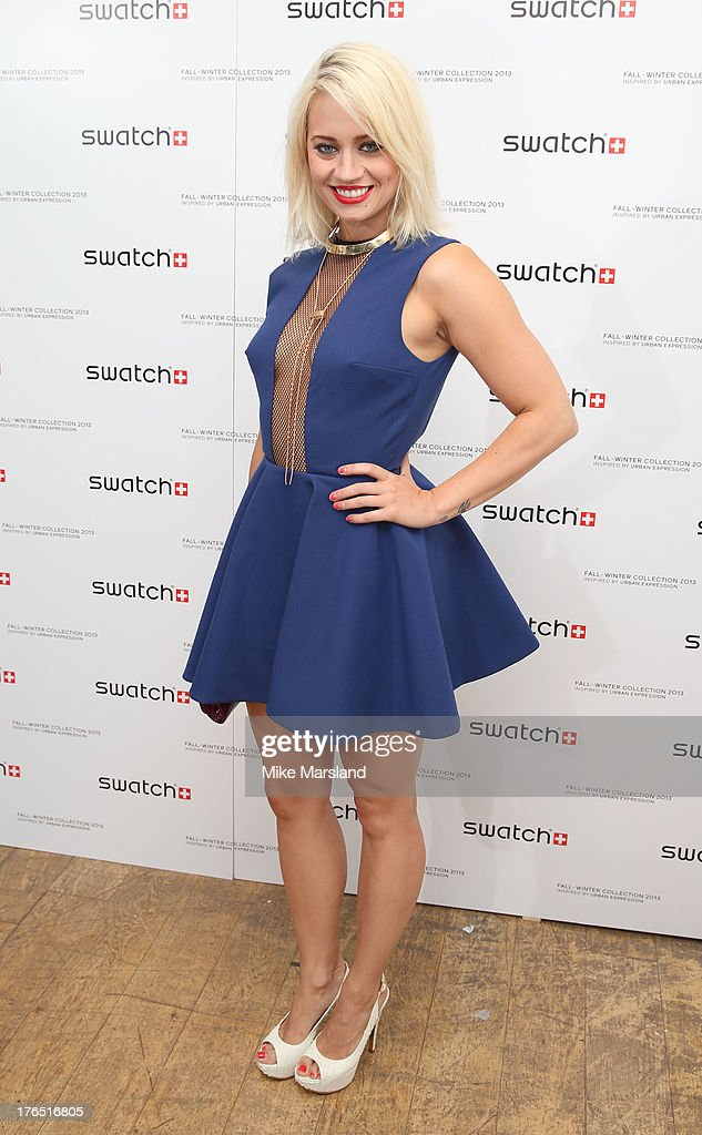 Kimberly Wyatt attends the launch of Urban Expression by Swatch at Blackall Studios on August 14, 2013 in London, England.