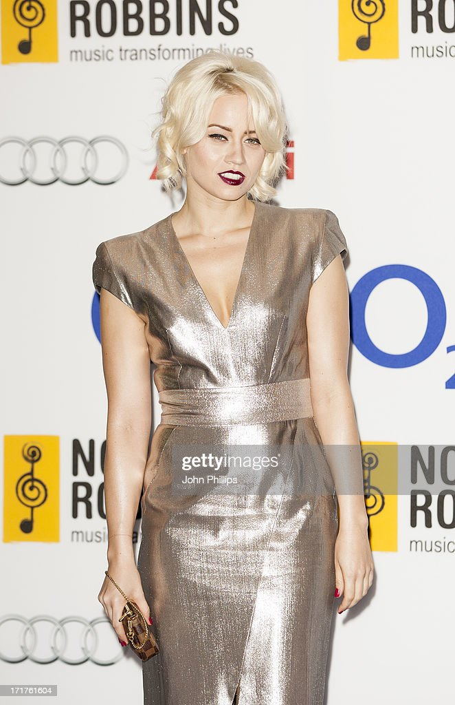 Kimberly Wyatt attends the Nordoff Robbins Silver Clef awards at London Hilton on June 28, 2013 in London, England.