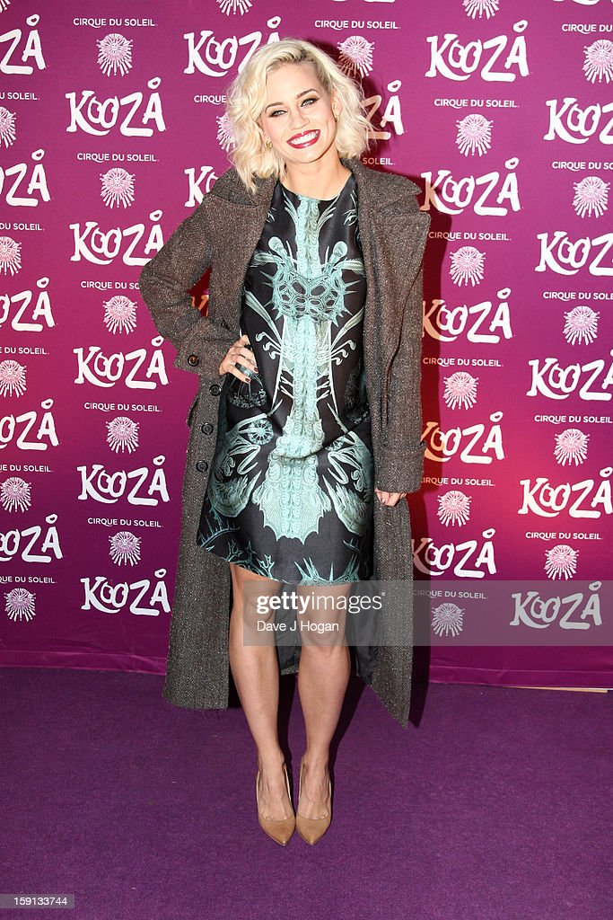 Kimberly Wyatt attends the opening night of Cirque Du Soleil's 'Kooza' at Royal Albert Hall on January 8, 2013 in London, England.