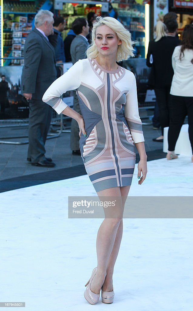 Kimberly Wyatt attends the UK Premiere of 'Star Trek Into Darkness' at The Empire Cinema on May 2, 2013 in London, England.