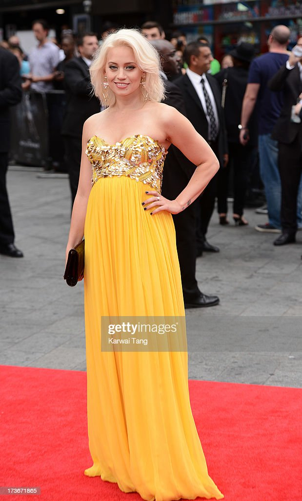 Kimberly Wyatt attends the UK premiere of 'The Wolverine' at Empire Leicester Square on July 16, 2013 in London, England.
