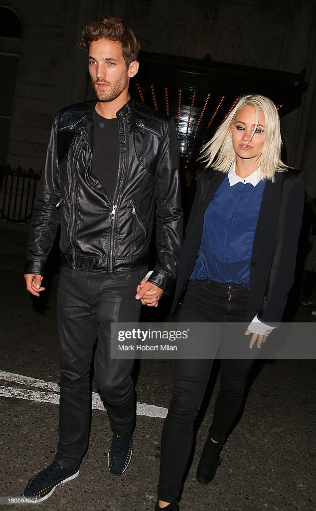 Kimberly Wyatt attends the W Magazine September issue party at The London EDITION hotel on September 14, 2013 in London, England.
