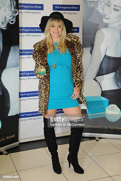 Kimberly Wyatt launches her new fragrance 'Kaydance' at The Fragrance Shop Westfield London on October 9 2014 in London England