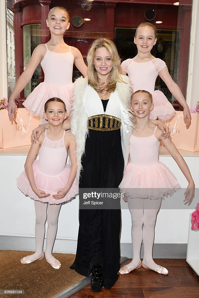 Kimberly Wyatt (centre) launches the 2016 annual BLOCH Dance World Cup on April 28, 2016 in London, England.
