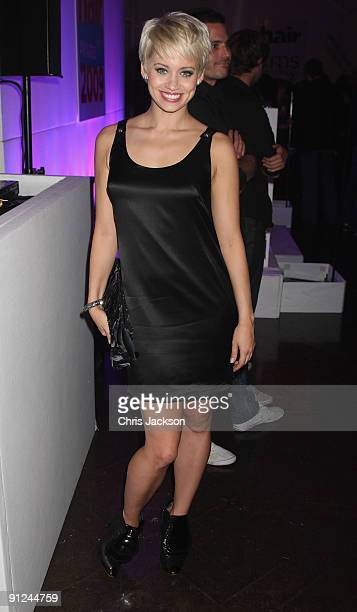 Kimberly Wyatt poses for a photo as she attend the Hair Magazine Awards 2009 held at Il Bottaccio on September 29 2009 in London England