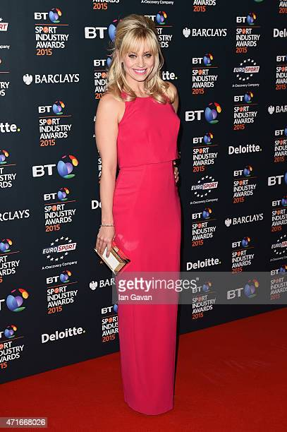 Kimberly Wyatt poses on the red carpet at the BT Sport Industry Awards 2015 at Battersea Evolution on April 30 2015 in London England The BT Sport...