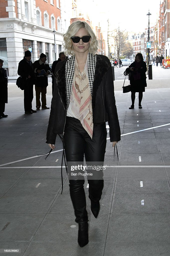 <a gi-track='captionPersonalityLinkClicked' href=/galleries/search?phrase=Kimberly+Wyatt&family=editorial&specificpeople=678958 ng-click='$event.stopPropagation()'>Kimberly Wyatt</a> sighted departing BBC Radio Studios on February 2, 2013 in London, England.