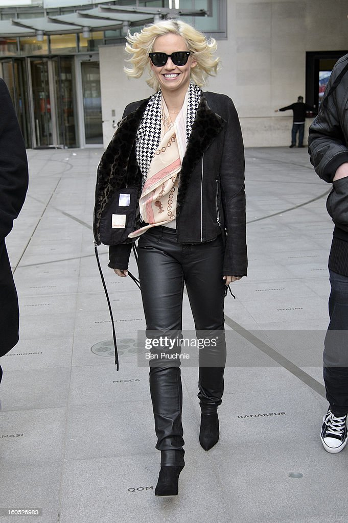 Kimberly Wyatt sighted departing BBC Radio Studios on February 2, 2013 in London, England.