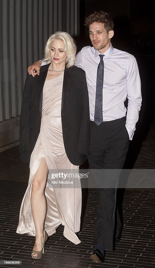 <a gi-track='captionPersonalityLinkClicked' href=/galleries/search?phrase=Kimberly+Wyatt&family=editorial&specificpeople=678958 ng-click='$event.stopPropagation()'>Kimberly Wyatt</a> (L) sighting at the Royal Festival Hall, South Bank on May 12, 2013 in London, England.