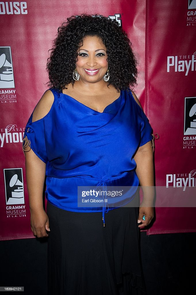 Kimberly Yarbrough poses for a photo after her performance on opening night of 'One Night With Janis Joplin' at Pasadena Playhouse on March 17, 2013 in Pasadena, California.