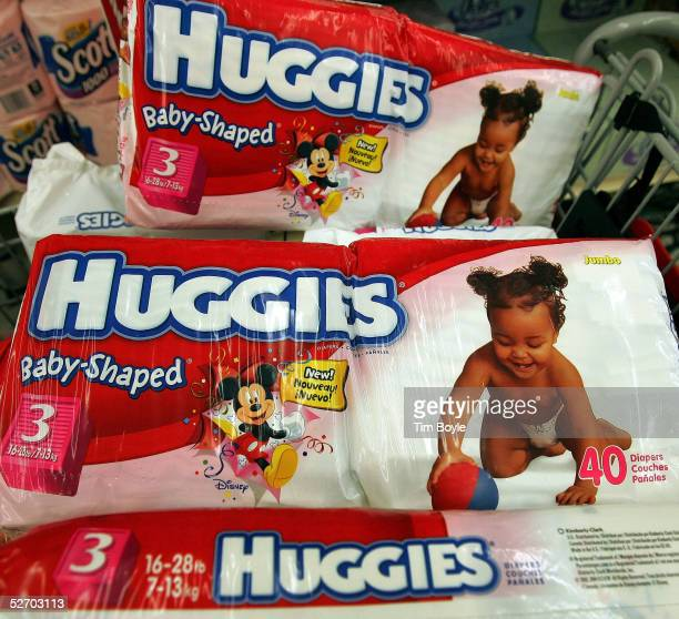 KimberlyClarkbrand Huggies diapers sit in a shopping cart in a grocery store April 27 2005 in Chicago Illinois The price of diapers is set to rise...