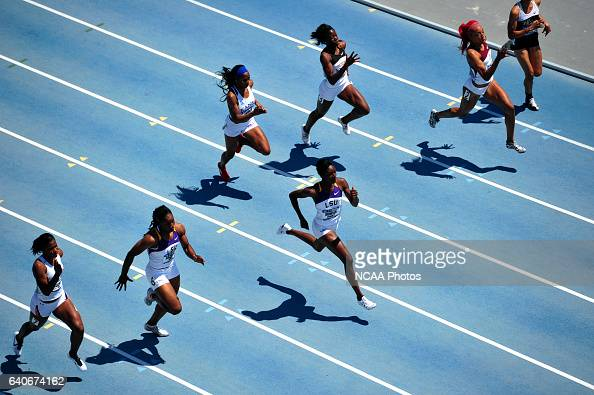 Kimberlyn Duncan of LSU competes in the women's 200 meter dash during the Division I Men's and Women's Outdoor Track and Field Championship held at...
