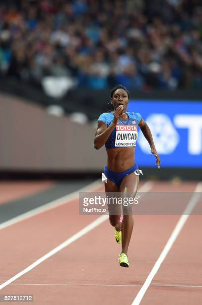 Kimberlyn DUNCAN USA during 200 meter heats in London at the 2017 IAAF World Championships athletics on August 8 2017