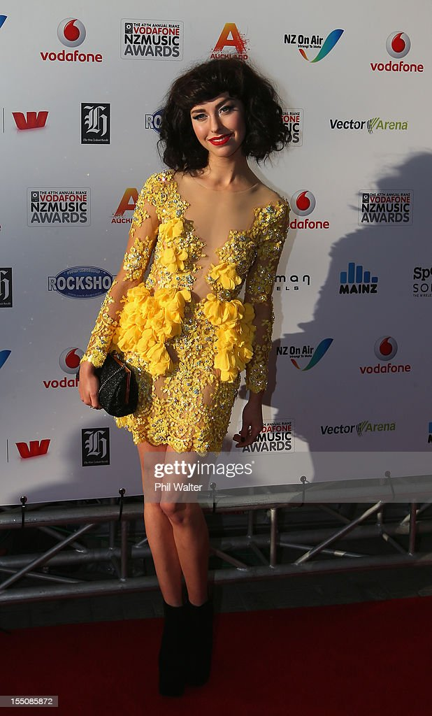 Kimbra arrives for the 2012 Vodafone New Zealand Music Awards at Vector Arena on November 1, 2012 in Auckland, New Zealand.