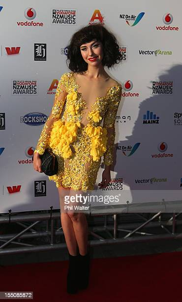 Kimbra arrives for the 2012 Vodafone New Zealand Music Awards at Vector Arena on November 1 2012 in Auckland New Zealand