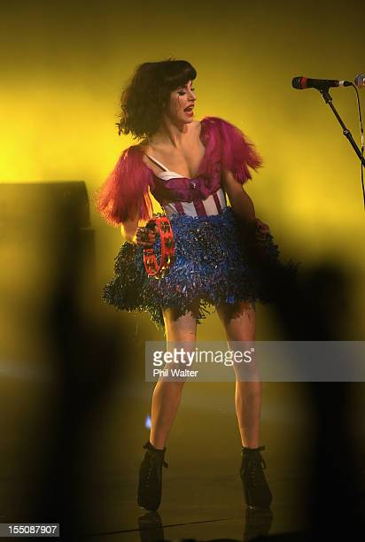 Kimbra performs during the 2012 Vodafone New Zealand Music Awards at Vector Arena on November 1 2012 in Auckland New Zealand