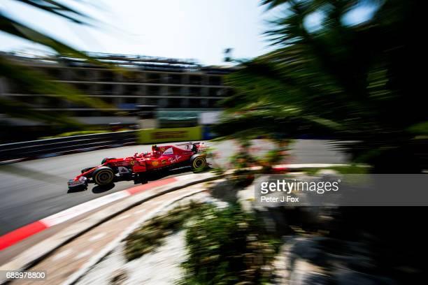 Kimi Raikkonen of Ferrari and Finland during qualifying for the Monaco Formula One Grand Prix at Circuit de Monaco on May 27 2017 in MonteCarlo Monaco