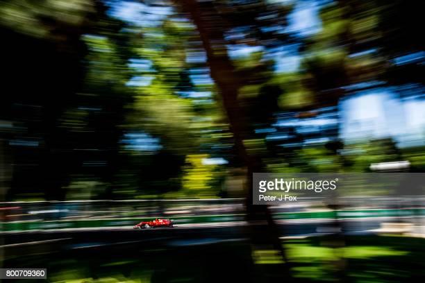 Kimi Raikkonen of Ferrari and Finland during the Azerbaijan Formula One Grand Prix at Baku City Circuit on June 25 2017 in Baku Azerbaijan